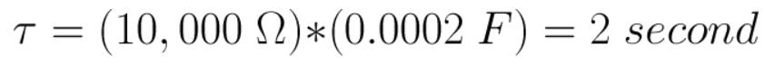 فرمول ثابت زمانی 2 ثانیه خازن
