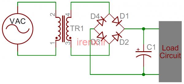 طراحی مدار فیلتر تغذیه با خازن