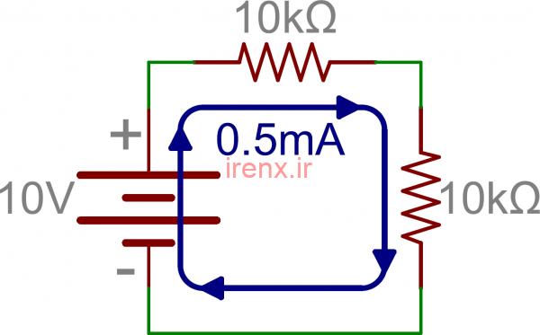 آموزش محاسبه مقاومت جریان در مدار سری