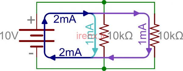 محاسبه مقاومت معادل در مدار موازی
