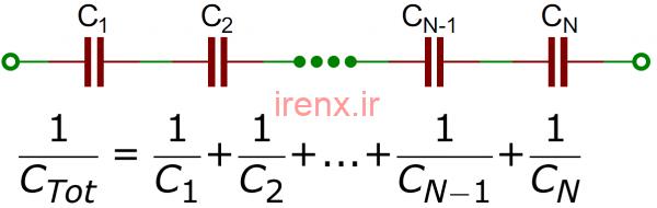 فرمول محاسبه خازن سری و موازی