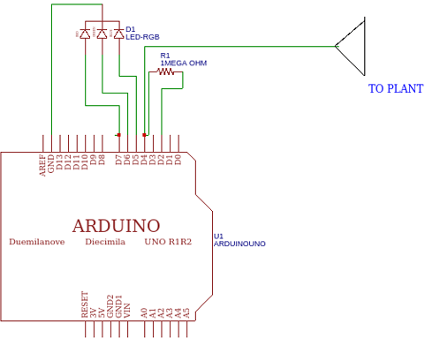 مدار برای تغییر رنگ گلدان با آردوینو و LED RGB