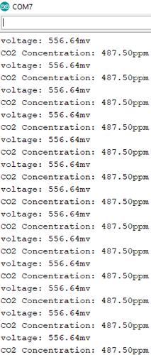 آزمایش سنسور CO2 مادون قرمز جاذبه با آردوینو