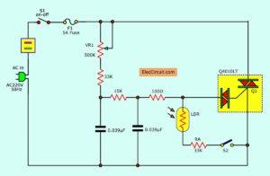مدار دیمر AC روشنایی اتوماتیک