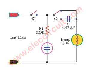 مدار دیمر روشنایی AC بسیار ارزان